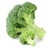 Ny broccoli som isoleras på vit bakgrund, inklusive den snabba banan utan skugga Arkivfoton