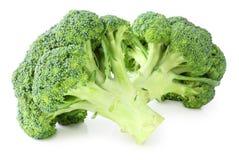 Ny broccoli som isoleras på vit bakgrund, inklusive den snabba banan utan skugga Royaltyfri Fotografi