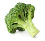 Ny broccoli som isoleras på vit bakgrund, inklusive den snabba banan utan skugga Arkivfoto
