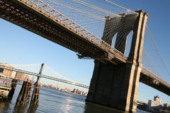 NY Brooklyn bridge, view from Manhattan Stock Image