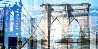 NY Brooklyn brug royalty-vrije illustratie