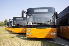 Ny bussframdel för offentligt trans. royaltyfri foto