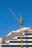 ny byggandestadskonstruktion arkivfoto