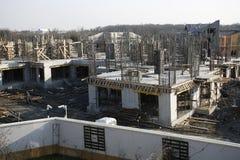 ny byggnadskonstruktion Arkivfoto