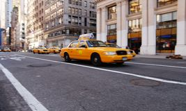 NY cab Stock Photos