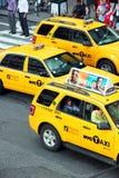 NY Cabs royalty free stock photos