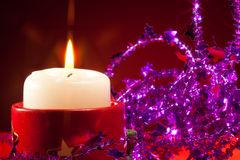 NY candle and decorations Stock Photo
