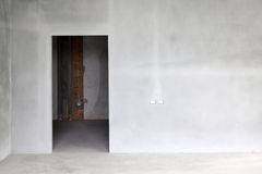 Ny cementvägg Royaltyfria Foton