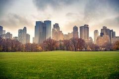 NY Central park at rainy day. Central park at rainy day, New York City, USA Stock Photos