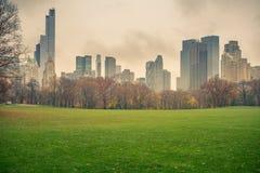 NY Central park at rainy day. Central park at rainy day, New York City, USA Stock Photography