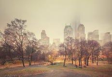 NY Central park at rainy morning Stock Photography