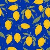 Ny citronbakgrund Hand dragen överlappande bakgrund royaltyfri illustrationer