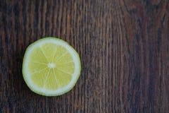 Ny citronhalva arkivfoto