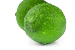 Ny citronlimefrukt som isoleras på vit Royaltyfri Bild