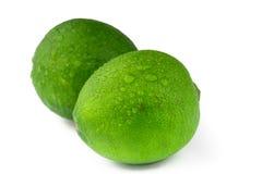 Ny citronlimefrukt som isoleras på vit Royaltyfri Fotografi