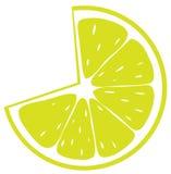 ny citronskivayellow Arkivfoto