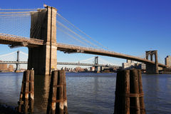 NY clásicos - Puente de Brooklyn Imagen de archivo