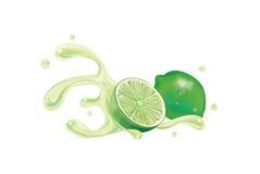 Ny close för citron upp illustration stock illustrationer