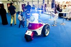 Ny cykel för polisstrandpatrull i DIPC-utställning royaltyfri bild