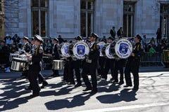 NY de Afdeling van de Politie in Heilige Patrick Day Parade Stock Afbeeldingen