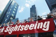 NY de reis van de sightseeingsbus. Royalty-vrije Stock Foto