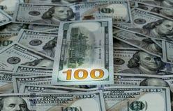 Ny design 100 dollarUSA-räkningar eller anmärkningar Arkivbilder