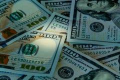Ny design 100 dollarUSA-räkningar eller anmärkningar Royaltyfri Fotografi