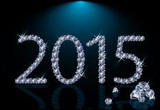 Ny diamant 2015 år Fotografering för Bildbyråer