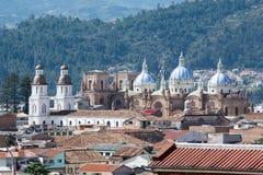Ny domkyrka av Cuenca, Ecuador Arkivbilder
