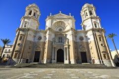 Ny domkyrka eller Catedral de Santa Cruz på Cadiz, Andalusia Spanien Royaltyfria Foton