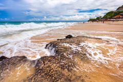 Ny drömmarnas landstrand, södra Kuta, Bali, Indonesien Royaltyfri Bild