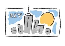 NY drawn cityscape symbol Stock Photo
