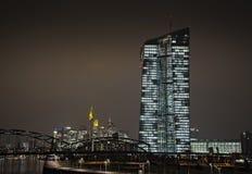 Ny ECB i Frankfurt royaltyfria bilder