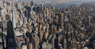 NY from Empire State Building. Panoramic picture of New York City from Empire State Building stock image
