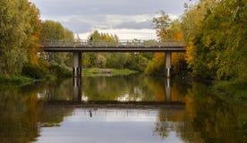 Ny Esso bro i den Loimaa staden royaltyfria foton