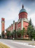 Ny Ewangelic kyrka i Kezmarok i Slovakien royaltyfri foto