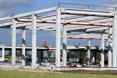 Ny fabrikskonstruktionsplats Royaltyfria Foton