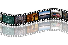 NY-Filmstrip. The picture shows a filmstrip with different photos of places and buildings of new york city Royalty Free Stock Photography