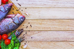 Ny fisk och tomater Royaltyfria Bilder