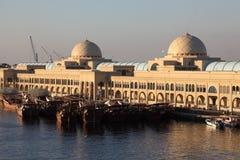 Ny fiskmarknad i Sharjah Arkivbild
