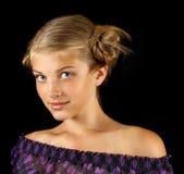 ny flickamakeup för mode Arkivbilder