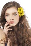ny flickayellow för blomma Royaltyfri Bild