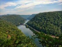 Ny flodklyfta, WV fotografering för bildbyråer