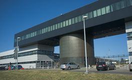 Ny flygplats, Krakow Polen - Balice arkivfoton