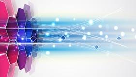 Ny framtida bakgrund för teknologibegreppsabstrakt begrepp royaltyfri illustrationer