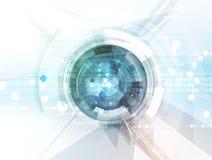 Ny framtida bakgrund för teknologibegreppsabstrakt begrepp stock illustrationer