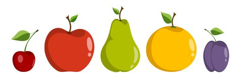 Ny frukt royaltyfri illustrationer