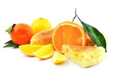 Ny frukt, apelsin, citron, tangerin, mandarin, mandarine med Arkivbilder