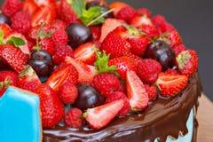 ny frukt för cake Arkivbilder