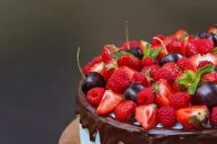 ny frukt för cake Arkivbild